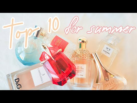 TOP 10 UPLIFTING SUMMER PERFUMES | From My Perfume Collection