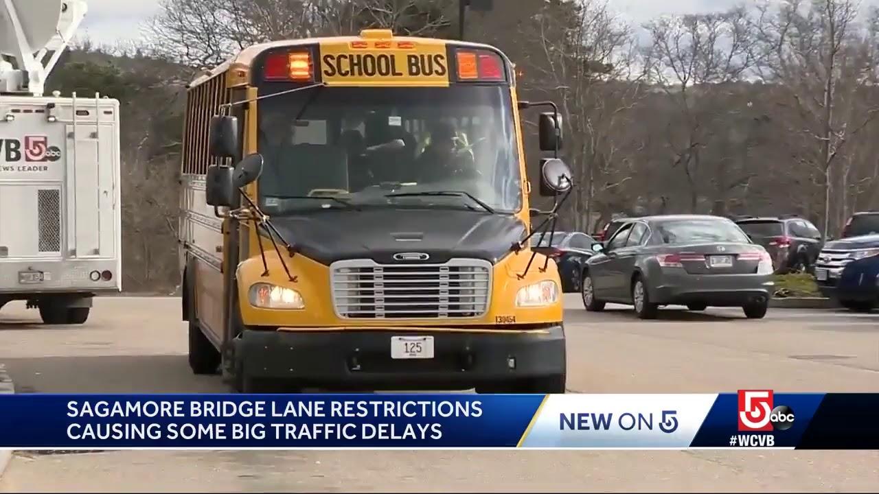 Sagamore bridge lane restriction causing traffic delays