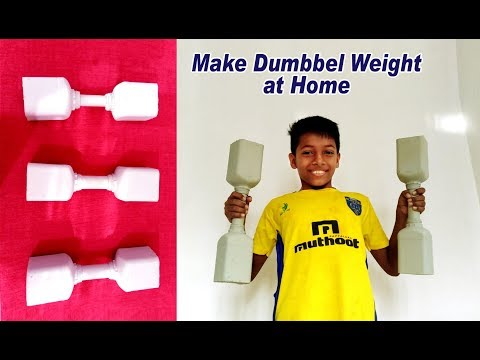 How to Make Dumbbell Weight at Home   Gym Workout Tools   Easy Way to Make