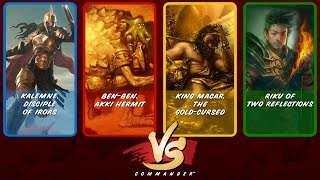 Commander VS S4E8: Kalemne vs Ben-Ben vs King Macar vs Riku [MtG: Multiplayer]