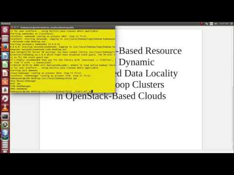 Migration Data Locality Virtual Hadoop Clusters in OpenStack Cloud computing projects