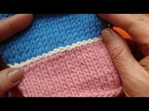 Вязание как соединить полотна
