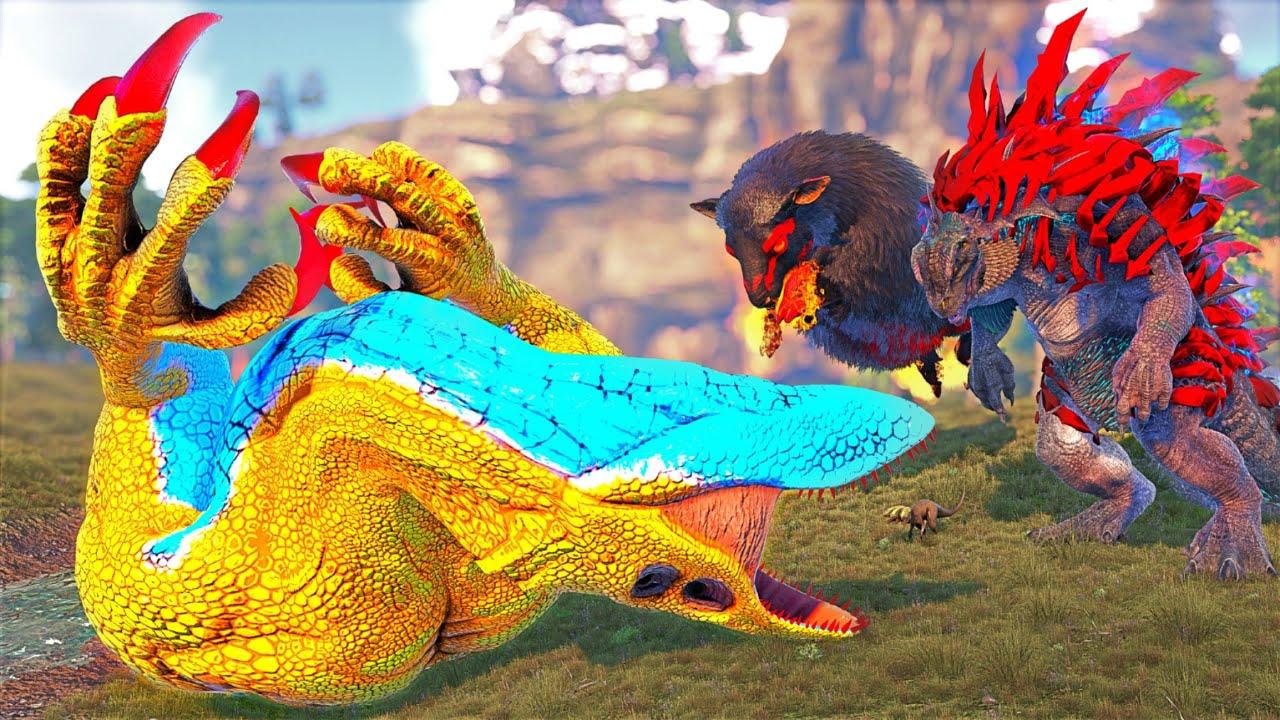 Download O GODZILLA E O SKULL CRAWLER FORAM DERROTADOS! A CABRITA EVOLUIU! PAI INDORAPTOR - Ark Dinossauros