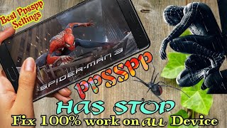 Spiderman 3 ppsspp best setting for Android || Fix Ppsspp Stop || Spiderman 3 PSP Highly Compressed