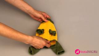 Костюм вязаный желтый динозаврик