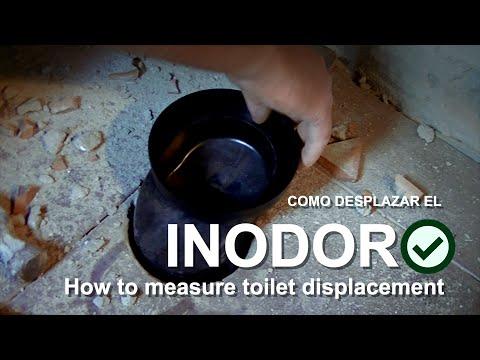 Cómo desplazar el inodoro de la pared