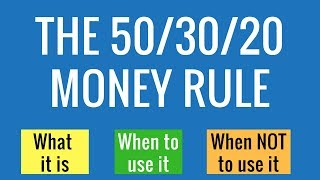 50 30 20 Budget- What it is and when it does and doesn't make sense  (BUDGETING METHOD)