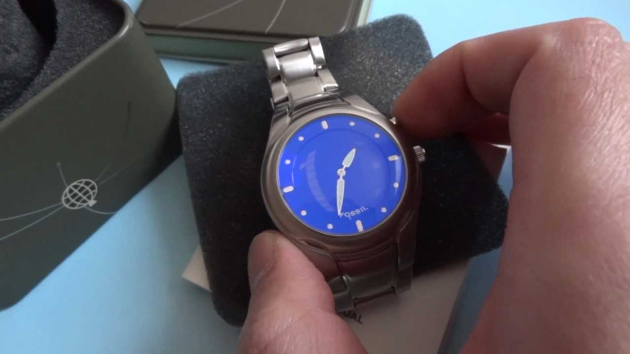 aa7359a73659 71053736216fw Fossil Blue Face Big Tic JR-8096 Watch - YouTube