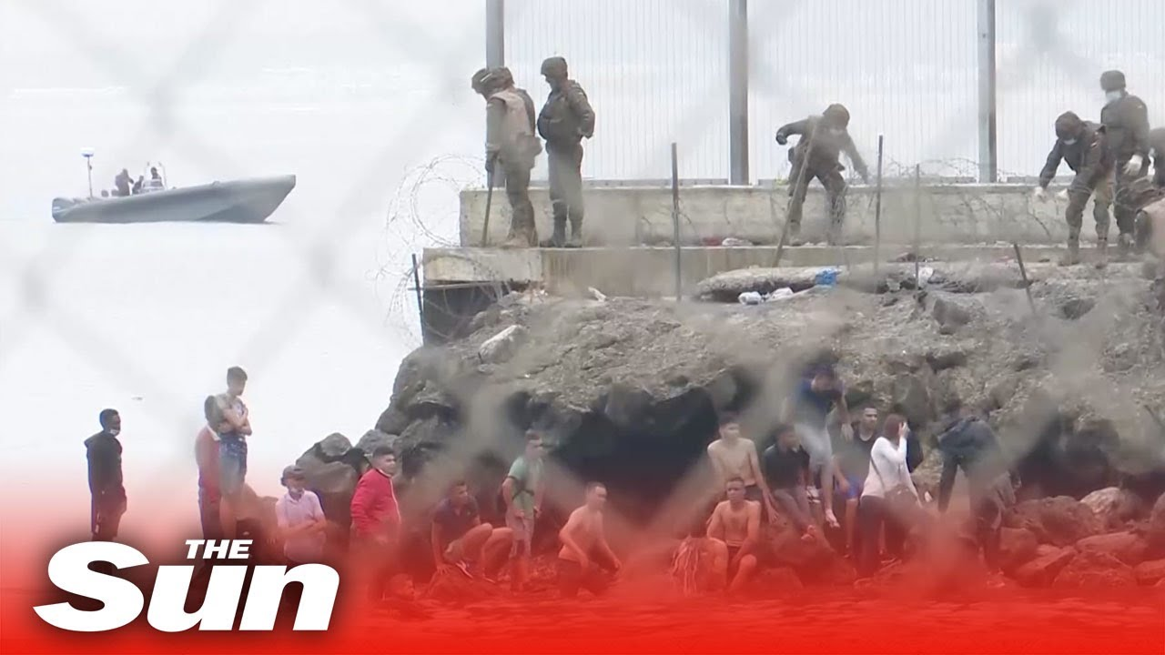 Live: Spanish military patrol Spain Morocco border after thousands of migrants entered Ceuta
