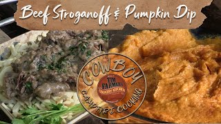 Beef Stroganoff (with Mayonnaise) & Pumpkin Dip w/ Cinnamon/Sugar Chips