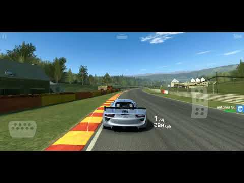 Real Racing 3 EAST/WEST Throwdown Race 10 Elimination In Porsche 918 RSR Concept At Spa
