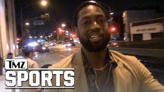 Dwyane Wade All Smiles Addressing Potential Miami Heat Return | TMZ Sports