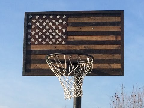 Building A Pallet Wood American Flag