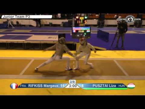 FE W S Team Cadets NoviSad ZC 2016 P3 yellow France FRA vs Hungary HUN