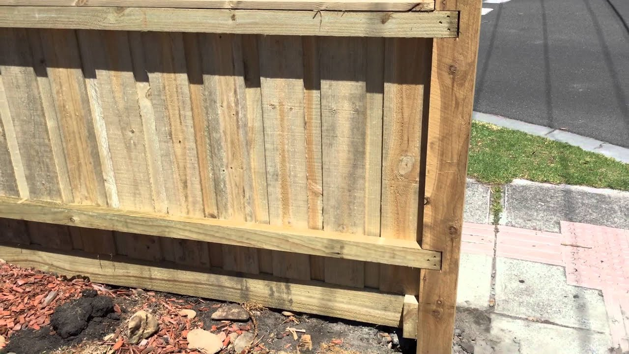 Paling Fence Designs Paling fence with exposed posts and capping youtube workwithnaturefo