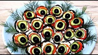 """Закуска из Баклажанов """"#ПАВЛИНИЙ ХВОСТ"""" Вкусный САЛАТ из Баклажан #Рецепт"""