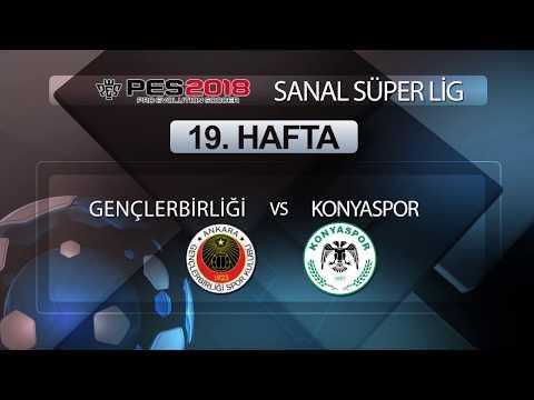 Gençlerbirliği - Konyaspor | PES 2018 Sanal Süper Lig 19. Hafta