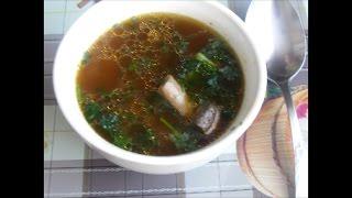 Постный суп с шампиньонами в мультиварке