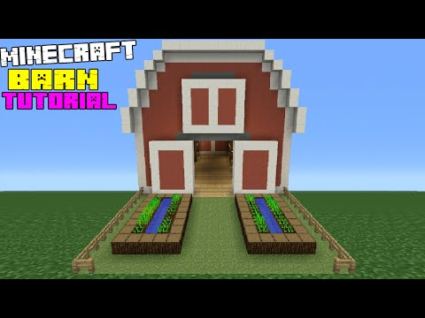 Minecraft Tutorial: How To Make A Barn