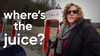 1st Tesla Model 3 Road Trip!! - Where's the Juice?
