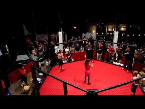 Clarissa Romano Sings the National Anthem on Fight Night