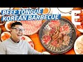 Beef Tongue Korean Barbecue on An All-Charcoal Grill — K-Town