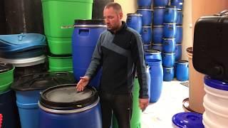 Обзор бочка 227 литров пластиковая