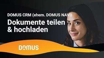 DOMUS NAVI und HOMECASE - Dokumente teilen und hochladen