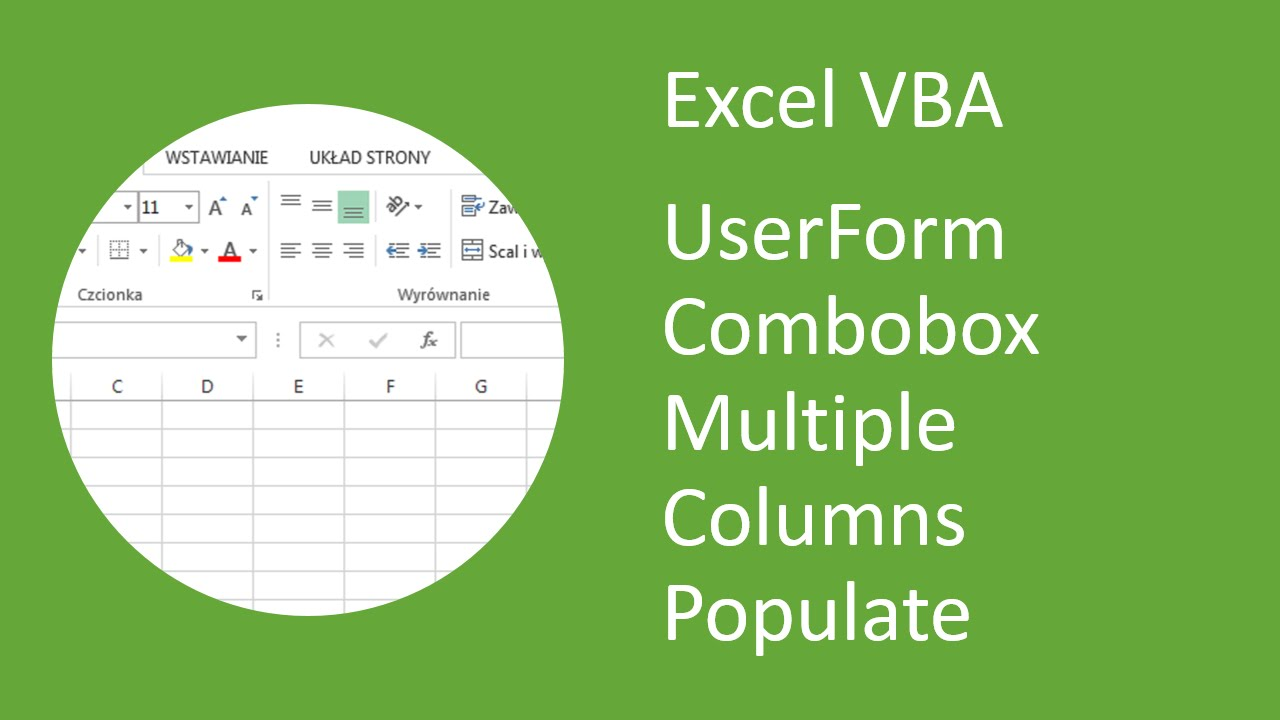 Excel Vba Userform Combobox With Multiple Columns Populate