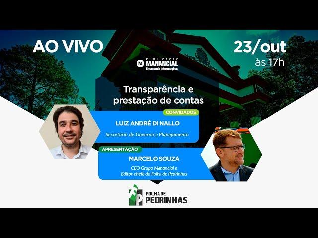 Transparência e prestação de contas | AO VIVO | JORNAL FOLHA DE PEDRINHAS