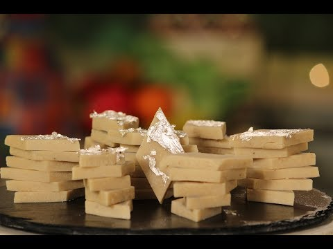 Kaju Katli   Diwali Special Recipe   Sanjeev Kapoor Khazana