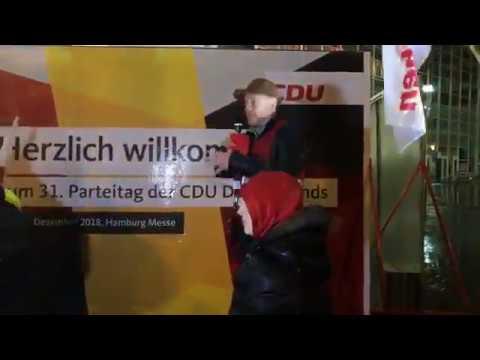 #Aufstehen Hamburg gegen CDU-Parteitag