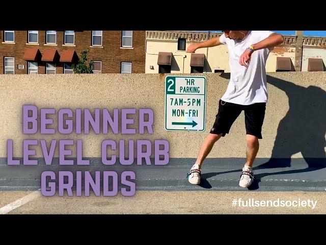 Beginner level curb grinds | Skidz Grindplates