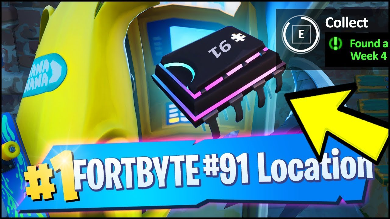 FORTBYTE 91 Location - FOUND AT A LOCATION HIDDEN WITHIN LOADING SCREEN #4  (Fortnite)