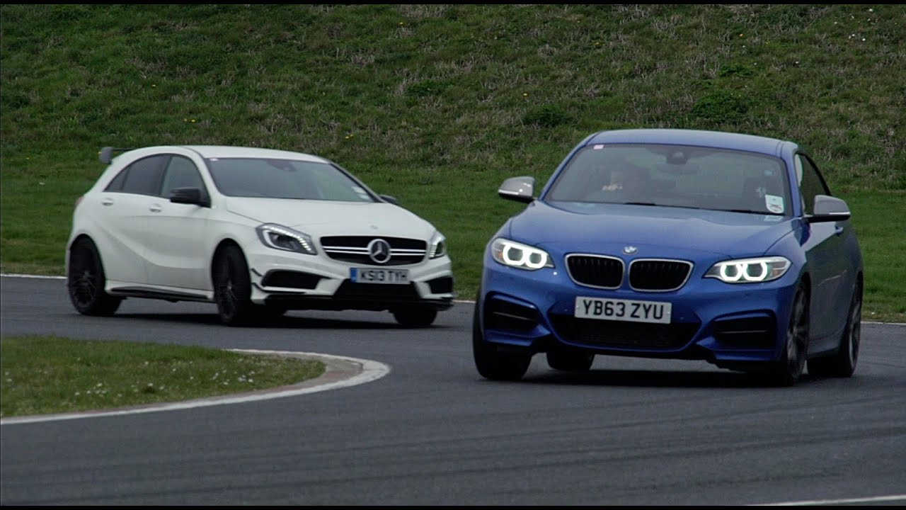 mercedes a45 amg vs bmw m235i which is the best driver 39 s car youtube. Black Bedroom Furniture Sets. Home Design Ideas