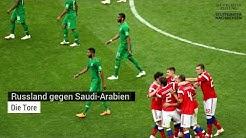 WM 2018 Russland gegen Saudi-Arabien: Die Tore