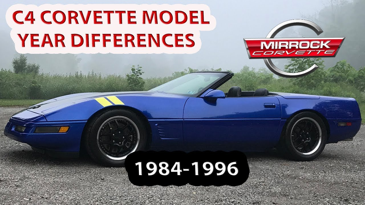 C4 Corvette Model Year Differences and Collectibility