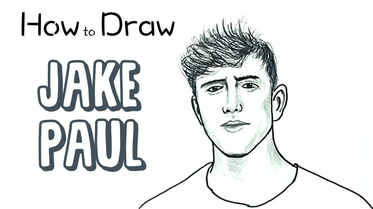 How to draw jake paul youtube