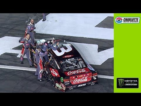 Austin Dillon earns first Monster Energy Series victory