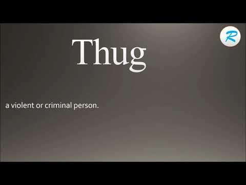 How to pronounce Thug