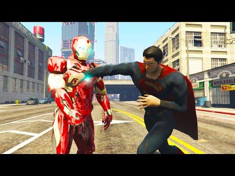 GTA 5 MODS # 1   SUPERMAN VÀ NGƯỜI SẮT