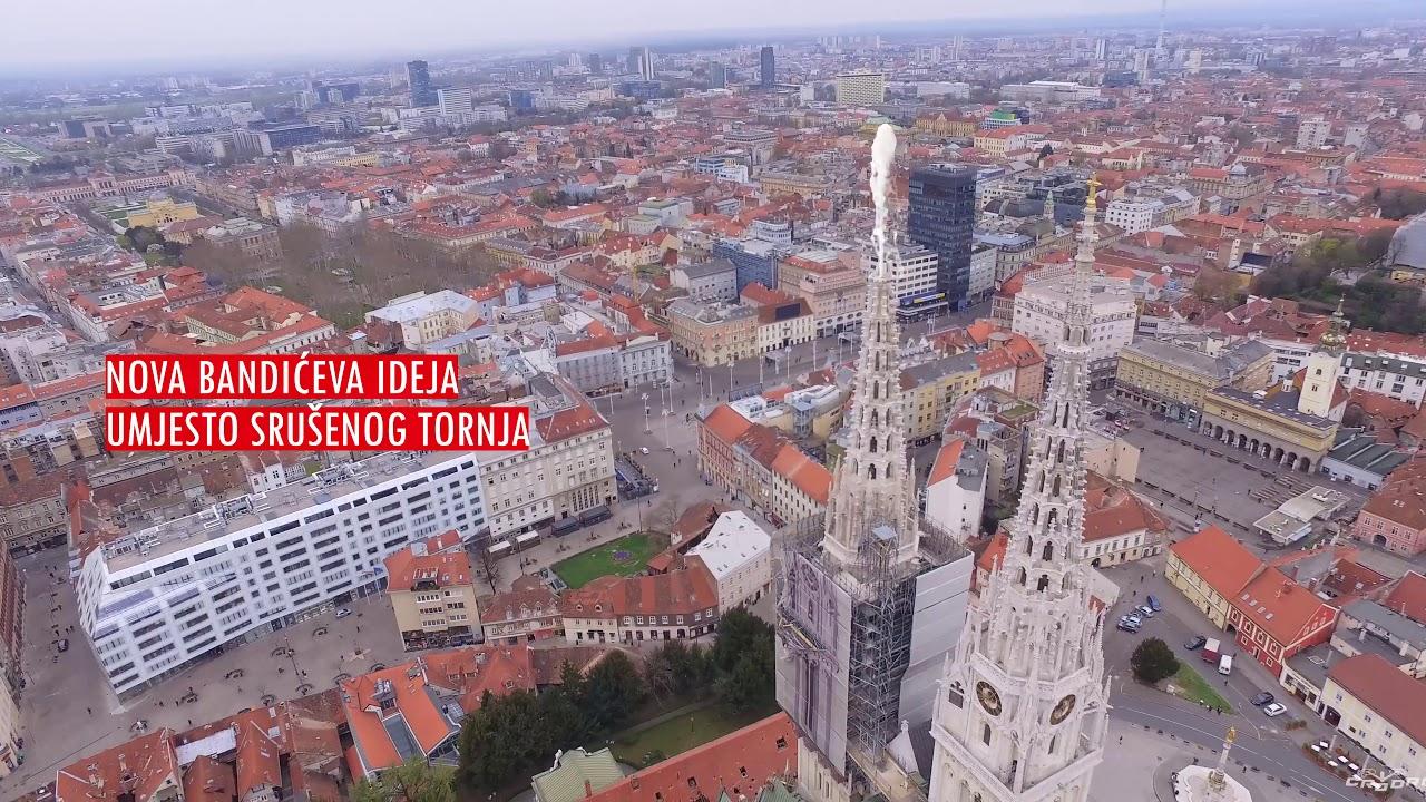 Zagrebacka Katedrala S Fontana Tornjem Nova Bandiceva Ideja Youtube