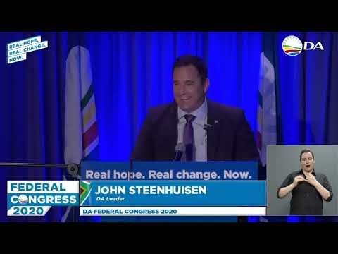 Acceptance speech by the new DA Leader, John Steenhuisen.