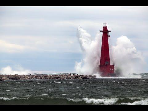 12-20 Foot Waves on Lake Michigan - Muskegon, MI - Joe Gee Photography