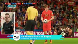 Francia vs Bélgica - Simulación - #ATRMundial
