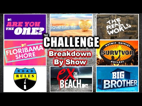 THE CHALLENGE Breakdown By Show - The Real World, Road Rules, Are You The One?, Big Brother, Et Al.