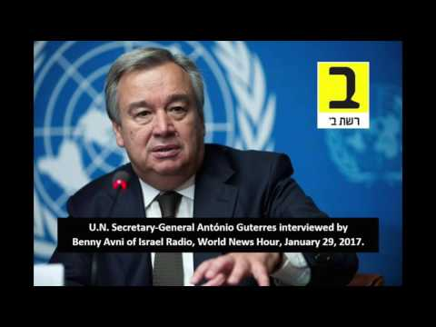 U.N. chief recognizes history of Jewish temple in Jerusalem, pledges to treat Israel equally