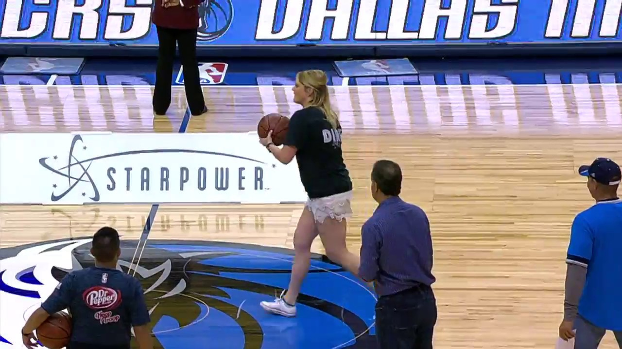 Mavs Fan SPLASHES Amazing Half Court Shot | April 07, 2017
