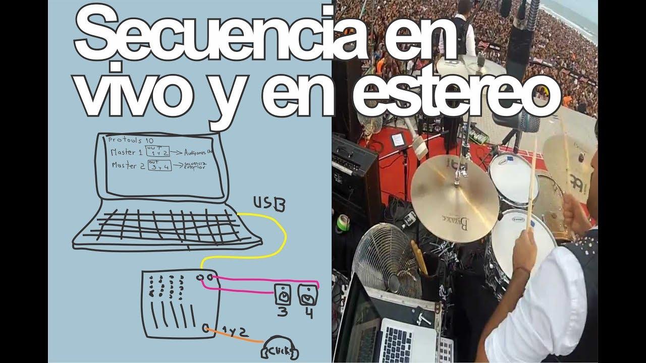 Download Batería Secuencias estéreo en vivo + Click /  Live stereo sequences + Click Drummers