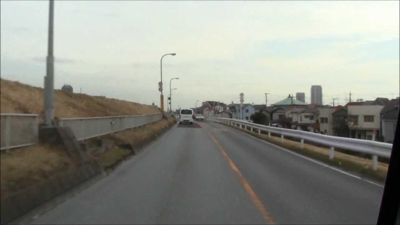 車載】東京都道451号江戸川堤防...